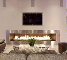 Modern Fireplace Living Room In Small Dining Design