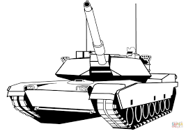 Click The M1 Abrams Tank Coloring