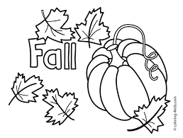 Autumn Coloring Pages With Pumpkin For Kids Seasons Printable