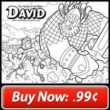 The Heroes Of Bible David Coloring Page