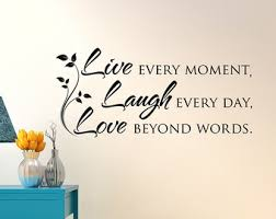 Live Laugh Love Wall Decal Quote Inspirational Vinyl Bedroom