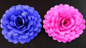 How To Make Easy And Simple Paper Flower DIY Crafts