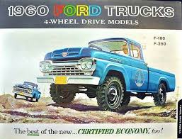 A Gallery Of Vintage Print And TV Advertisements For The 1960 Ford Motor Company New Car Truck Lineup