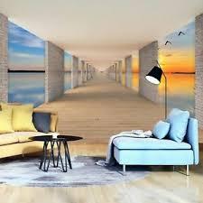 details zu vlies fototapete 3d effekt tunnel see himmel sonne ausblick optik wohnzimmer