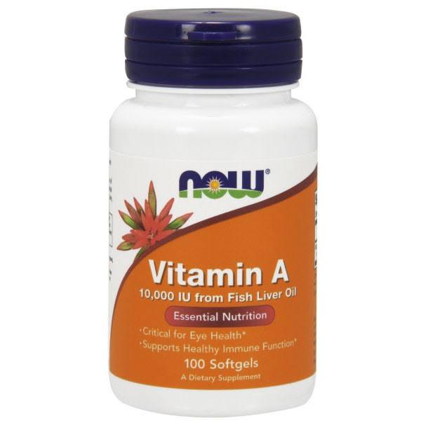 NOW Foods Vitamin A - 100 Softgels, 10,000 IU