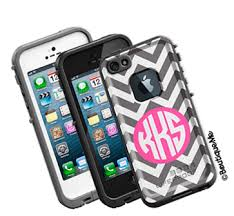 Chevron Monogrammed LifeProof frē iPhone 5 Case Personalized by