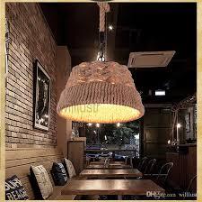 großhandel willlustr hanfseil pendelleuchte amerikanischen landhausstil pendelleuchte loft edison glühbirne natürliches material hängende beleuchtung