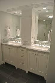 Bathroom Makeup Vanity Cabinets by 25 Best Bathroom Double Vanity Ideas On Pinterest Double Vanity