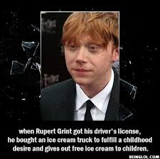 100 Rupert Grint Ice Cream Truck Did You Know That When Got His Drivers License