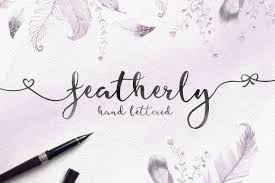 Featherly Hand Lettered Font