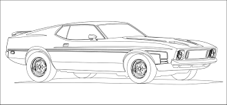 Amazing Ford Mustang Coloring Pages Printable With And Car Free