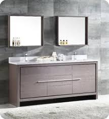 """Fresca FCB8172GO Allier 72"""" Gray Oak Modern Double Sink Bathroom Cabinet"""
