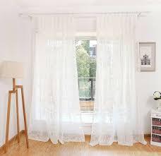 gardinen vorhänge wohnzimmer blumen ösen uni creme weiß