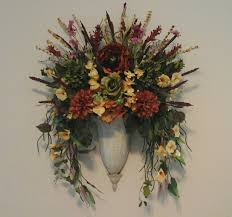 tuscan floral wall sconce fall wall planter wall pocket floral