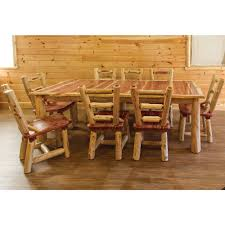 Red Cedar Amish Dining Room Set – Amish Log Furniture | Cabinfield ... Unique Zeppelin Modern Orange Ding Chair All World Fniture Room Chairs Thrghout Ppare Dennisbiltcom These Will Convince You To Go Midcentury Mariette Set Of 2 Intercon Classic Oak 7piece Solid Pedestal Miniature Hutch Table Two Antique Etsy Kenneth Fabric Hot Orange Ding Room Set Schuhekeflyknitlunar3top Cattail Bungalow 96 Warm Amber Extendable Trestle With Chairs Design Ideas
