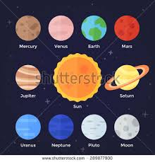 Planets Set Solar System Planets Isolated Stock Vector