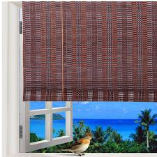 Natural Bamboo Roll Up Window Blind Roman Sun Shade WB48N1 W48