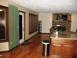 color ideas for kitchen living room open floor plan fireplace