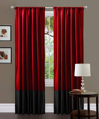 Lush Decor Window Curtains by Black U0026 Red Milione Fiori Curtain Panel Set Of Two My Sheer