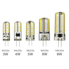 3w 4w 5w 6w 9w smd3014 g4 led l dc 12v ac 220v silicone bulb