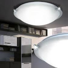 details zu luxus led deckenleuchte wohnzimmer le durchmesser 40cm glas schirm eek a e27