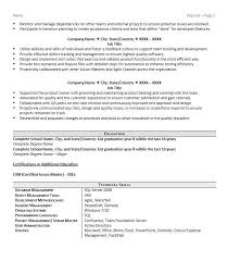 Sample Graduate Resume Scrum Example Page 2 New Accounting