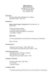 Good Resumes Examples High School Student Resume Example On Best