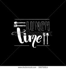 Conceptual Image Of Business Concept With Words Lunch Time Quote Typographical Background Unique Hand Drawn Font And Illustration Fork