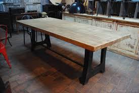 table industrielle métal bois par le marchand d oublis