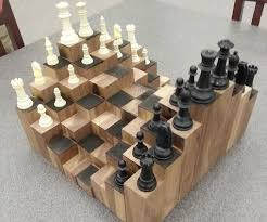 Diy Wood 3D Chess Board