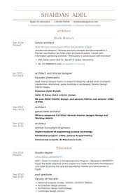 Interior Design Resume Examples Lovely Managing Assignments University Survival Architect Samples
