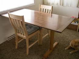 fine woodworking trestle table plans plans free download