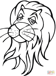 Click The Lion Head Coloring Pages