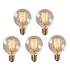 5pcs g95 e27 40w vintage edison bulb retro l incandescent light