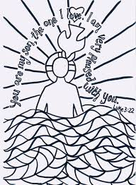 Baptism Of Jesus Coloring Page 18 By John The Baptist Pages In