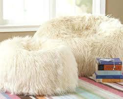 Giant Fluffy Bean Bag Uk Mongolian Fur Chair White