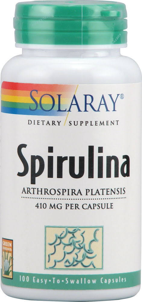 Solaray Spirulina - 410mg, 100 Count