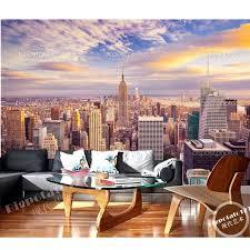 individuelle fototapeten new york city sonnenschein skyline 3d wandbilder für wohnzimmer schlafzimmer tv wand wasserdicht vinyl papel de parede