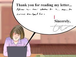 How to Write a Letter to a Judge Before Sentencing with