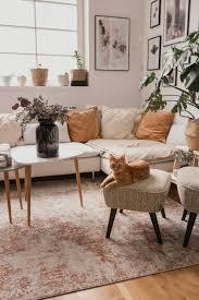 wohnzimmer update so habe ich den richtigen vintage teppich