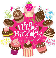 Happy Birthday Clipart with Cakes Image