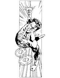 Cool Green Lantern Comic Book Coloring Page