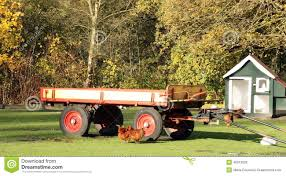 Old Farm Trailer Stock Image Of Rural Wood Green