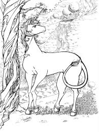 The Last Unicorn Coloring Pages For Adults