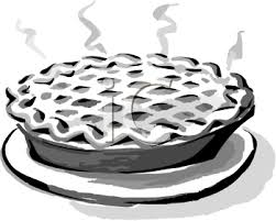 Black and White Clip Art of a Hot Pie