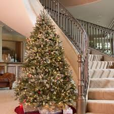 5ft Pre Lit White Christmas Tree by Frasier Grande Full Pre Lit Christmas Tree Hayneedle