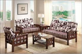 CUSHION SOFA SET WITH CENTER TABLE SOLID WOOD MAKE Vinston Online