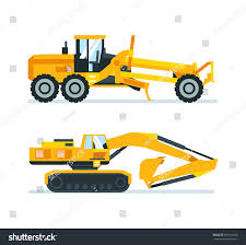 Construction Machinery Concept Set Construction Machines Stock ...