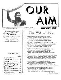 Our Aim A Monthly Record Of The Aborigines Inland Mission Australia Vol39 No10 1946