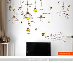 personalized droplight wall decal decor sticker ceiling light